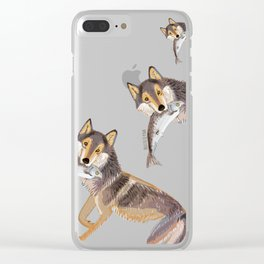 Totem Coastal wolf (c) 2017 Clear iPhone Case