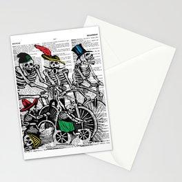 Calavera Cyclists Stationery Cards