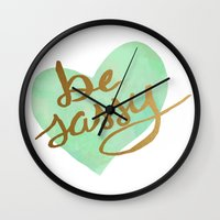 sassy Wall Clocks featuring Be Sassy by NoelleGobbi