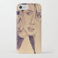 katniss iPhone & iPod Cases featuring Katniss Everdeen by KOverbee