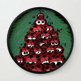 The Ladybug Holiday Fest Wall Clock
