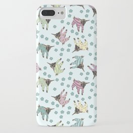 Pajama'd Baby Goats - Blue iPhone Case
