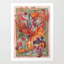 Sour Fruit craft beers Art Print
