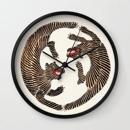 Vintage Japanese Tiger design Wall Clock
