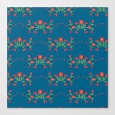 Small floral kitchen collection blue Canvas Print