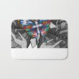 Christianity Themed Butterfly Art Bath Mat