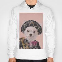 mexican Hoodies featuring Mexican Chihuahua by Rachel Waterman