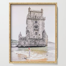 Belem Tower girl Serving Tray