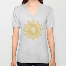 Sun Mandala Pattern Unisex V-Neck