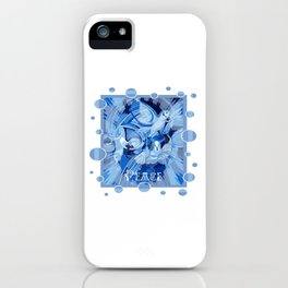 Dove With Celtic Peace Text In Blue Tones iPhone Case