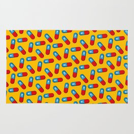 Deadly but Colorful. Pills Pattern Rug