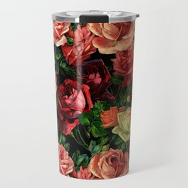 Vintage & Shabby chic - floral roses flowers rose Travel Mug