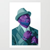 outkast Art Prints featuring Big Boi by kablab