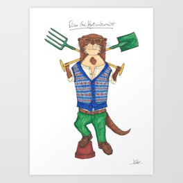 Eliseo the Horticulturalist Art Print