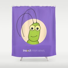 Kevin the Katydid Shower Curtain