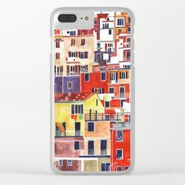 Cinque Terre vol 3 Clear iPhone Case