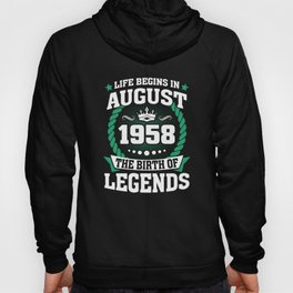 August 1958 The Birth Of Legends Hoody
