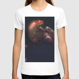 UNDERWATER PHOTOGRAPHY OF TWO RED JELLYFISH T-shirt