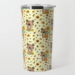 SUNFLOWER BEAR Travel Mug