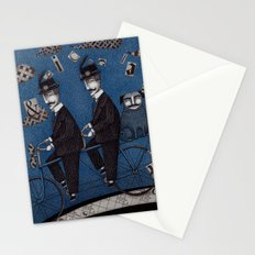 Two Men Travelling Stationery Cards