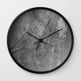 textured jute fabric for background and texture Wall Clock