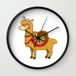 Cute & Funny Sloth Riding Llama Animal Friends Wall Clock