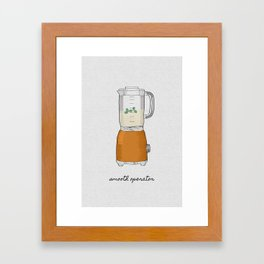Smooth Operator Framed Art Print