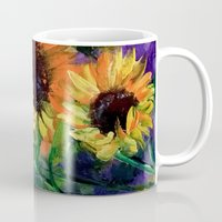 sunflowers Mugs featuring Sunflowers by OLHADARCHUK
