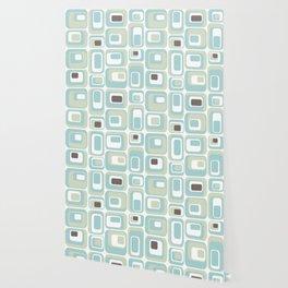 Retro Rectangles Mid Century Modern Geometric Vintage Style Wallpaper