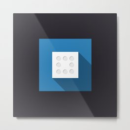 "Dice ""eight"" with long shadow in new modern flat design Metal Print"