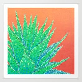 Agave Sunset Art Print