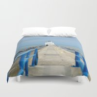 lighthouse Duvet Covers featuring Lighthouse by MelissaLaDouxPhoto