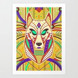 Symmetric Animals. WOLF Art Print