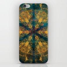 Tribal mandala in blue and gold iPhone & iPod Skin
