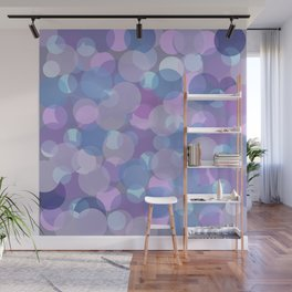 Pastel Pink and Blue Balls Wall Mural
