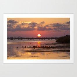 Sunset in Corolla Art Print