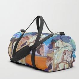 The Girl Next Door Cow Portrait Duffle Bag