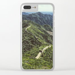 The Great Wall Of China Clear iPhone Case