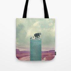 Digital Collage Tote Bag
