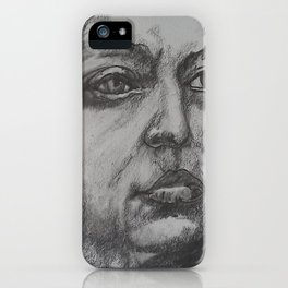 Pencil Sketch of Female Face/Portrait. Graphite iPhone Case
