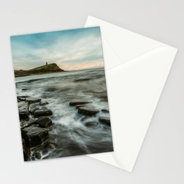 Kimmeridge bay on the Jurassic Coast in Dorset. Travel Landscape poster art print  Stationery Cards