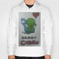 cthulu Hoodies featuring Cthulu  by Giddie_Guru