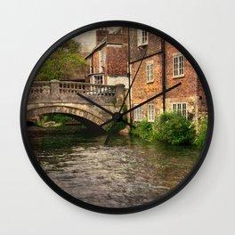 Winchester City Bridge and Mill Wall Clock