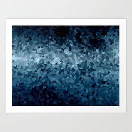 Blue Cristals Art Print