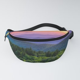 Sundown from Cowee Mountains Landscape Fanny Pack