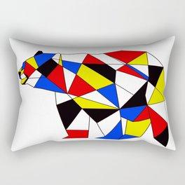 Mondrian Bear Rectangular Pillow