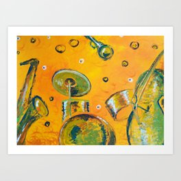 The rhythm of jazz Art Print
