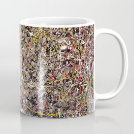 Intergalactic - Jackson Pollock style abstract painting by Rasko Coffee Mug