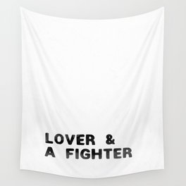 LOVER AND A FIGHTER - ink Wall Tapestry