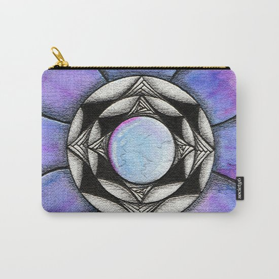Doodled Gem Bloom Carry-All Pouch